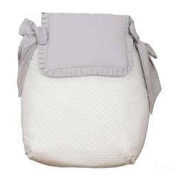 Sugar Gray Bugaboo coverlet