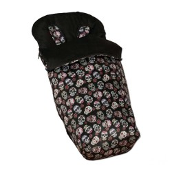 Bag Silla + Mittens Black Lovely Skull