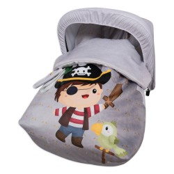 Sack Grupo 0 Raincoat with hood and covers Harness Bad Pirate