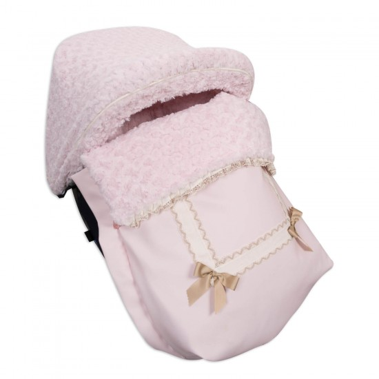 Sack Grupo 0 with hood and covers Leather Harness Rosa