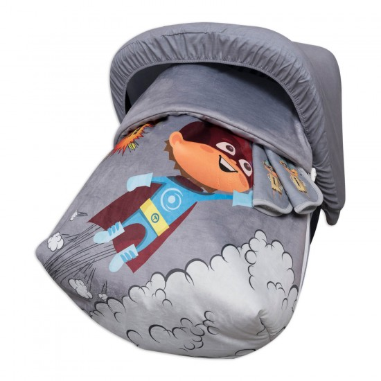 Sack Grupo 0 Raincoat with hood and covers Harness Hero Boy