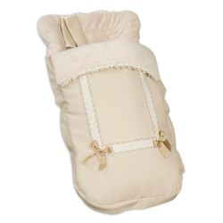 Sack chair covers Leather Harness Beige
