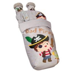 Saco para Silla paseo Impermeable con Manoplas y  Cubre Arnés Bad Pirate