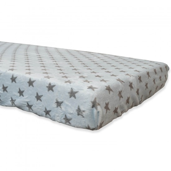 Coral Gray Bottoms blue Stars 60x120