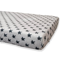 Coral Gray Bottoms Black Stars 60x120