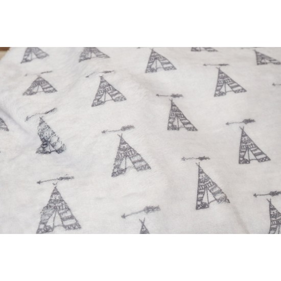 Coral Gray Bottoms Tepee 60x120