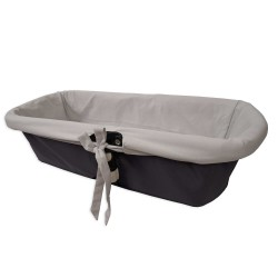 Gray interior sleeve for baby bassinet