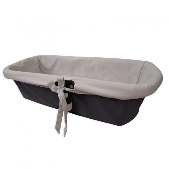 Funda interior gris para capazo de bebé