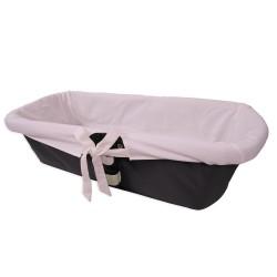 Funda interior rosa para capazo de bebé