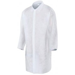 Pack 50 White Disposable Gowns