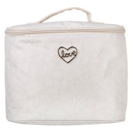 Round Biscuit Gray toiletry bag