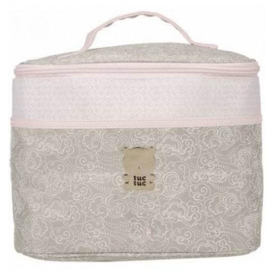 Round Toiletry Bag Caramel Pink