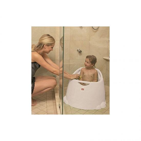Asiento de baño para ducha Opla Blanco Transparente