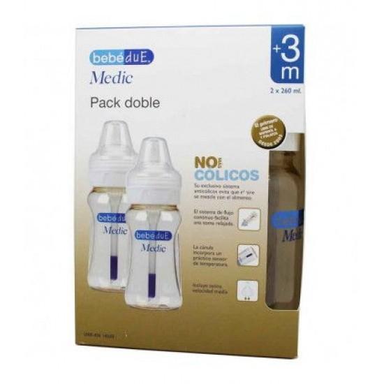 Set de 2 biberones Bebé Due Medic 240/260 ml