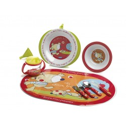 Tableware Set thermal plate les petites pommes 9 pieces Jané
