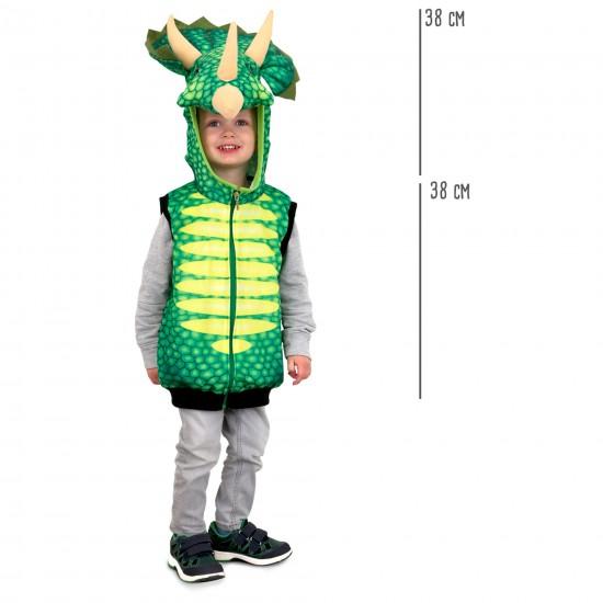Chaleco disfraz Dinosaurio Triceratops