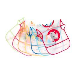Pack de 7 baberos plastificados de MS