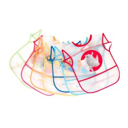 Pack 7 bibs plasticized MS