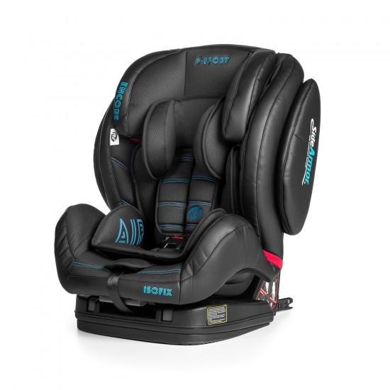 Silla de auto Encore Fix F-Sport negra-azul