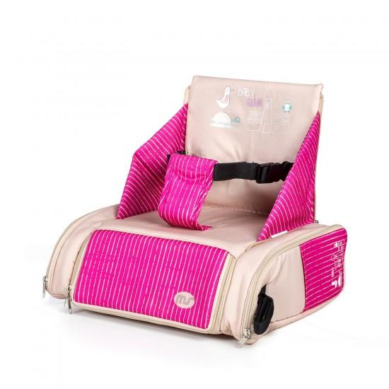 Trona elevador Booster bag rosa y beige de MS