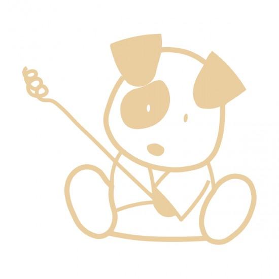 Vinilo modelo  perrito sentado con mancha
