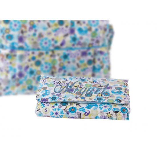 Vestidor Plastificado Mariquitas Azul