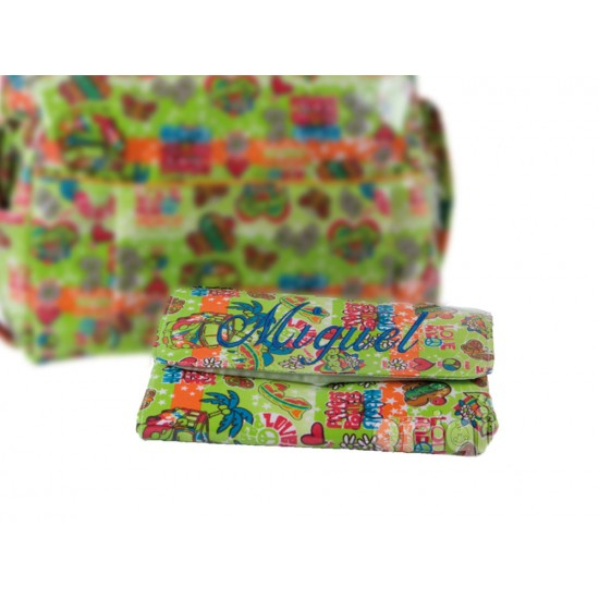 Vestidor Plastificado Hippie Verde