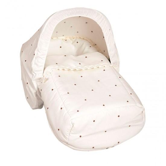 Saco Porta bebé  con capota de regalo Bodoque Beige