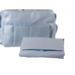 Vestidor Plastificado Pique Celeste
