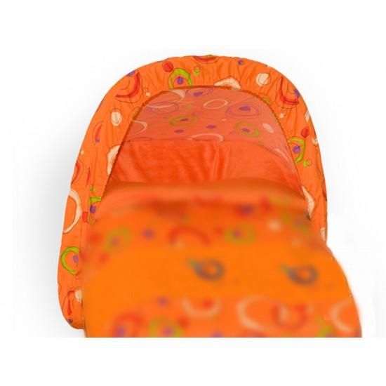 Toldo-Capota Porta bebé Planetas Naranja