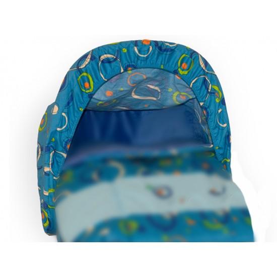 Toldo-Capota Porta bebé Planetas Azul