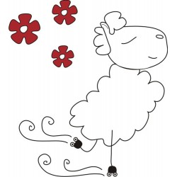 Decorative vinyl Sheep patin