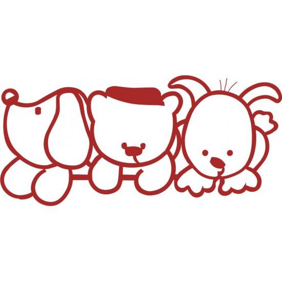 Vinilo Decorativo Bebé 3 osos