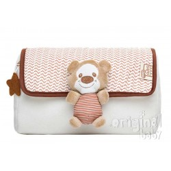Baby bear cosmetic bag beige