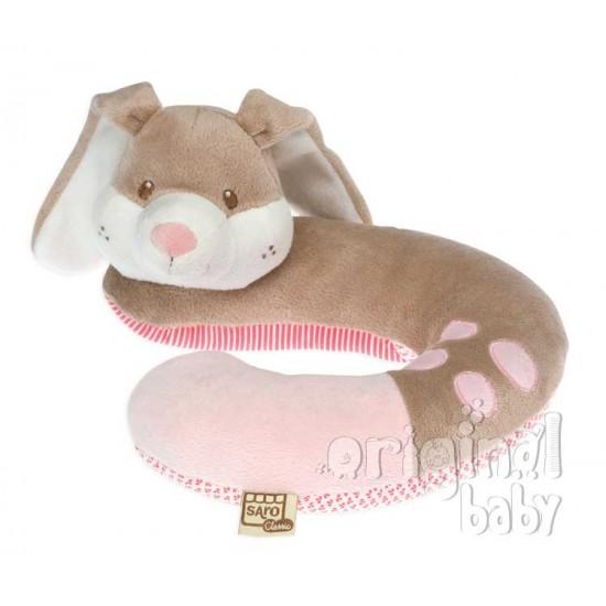 Reposa cabeza para el bebé Conejito rosa