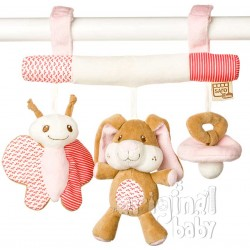 Pink bunny rattle little friends