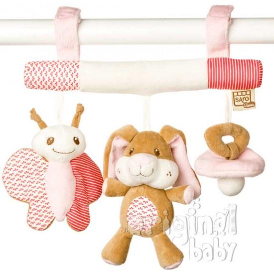 Sonajero pequeños amigos Conejito rosa