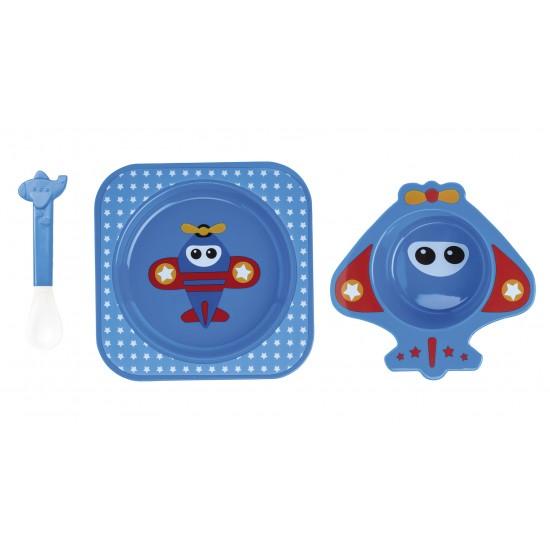 Nueva Vajilla 4piezas para Microondas Fun Azul
