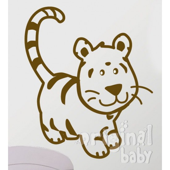 Vinilo decorativo serie 29 tigre de pie 3