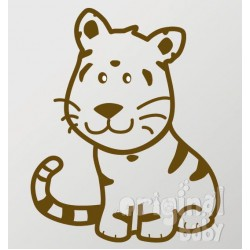 Vinilo decorativo serie 29 tigre sentado 4