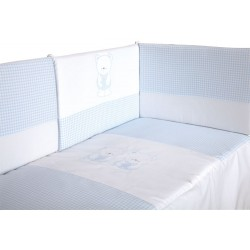 BEBE CUNA DUVET 120x60 + CRADLE PROTECTOR, REMOVABLE FOR WINTER / SUMMER