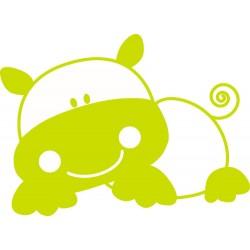 Vinilo decorativo bebe hipopotamo serie 37
