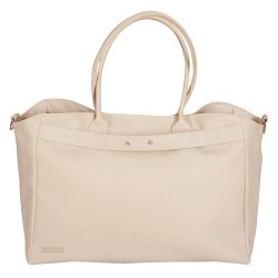Leather beige leatherette bag maternal infant