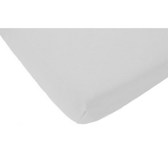 Crib bottom sheet white