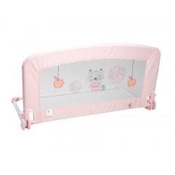 Barrera de cama super alta rosa