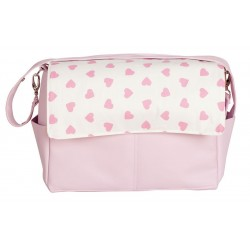 Maternal bag baby pink hearts