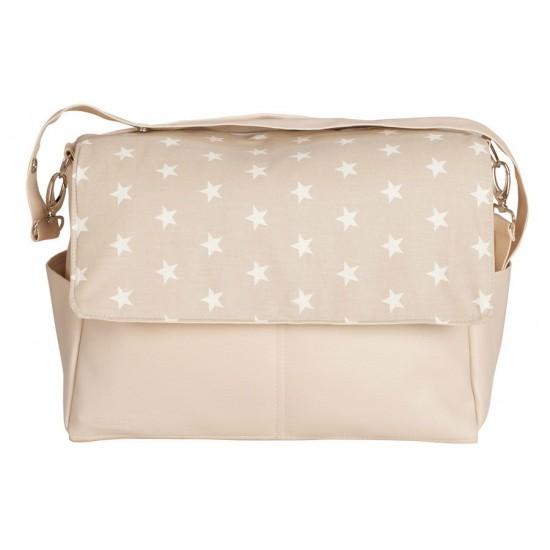 Bolso de bebé maternal Estrellas beige