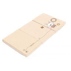Travel cot mattress beige Bunny Dreams