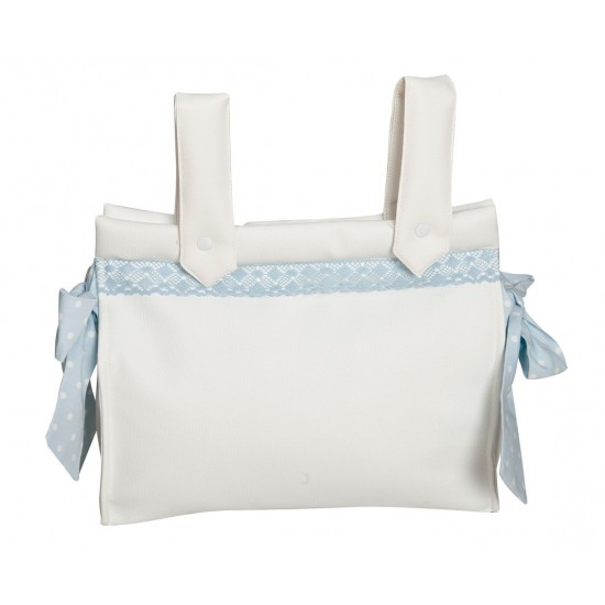 Bolso Panera bebe Topos Celeste de Happy Way