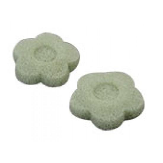 Esponja natural de Konjac Flor Verde